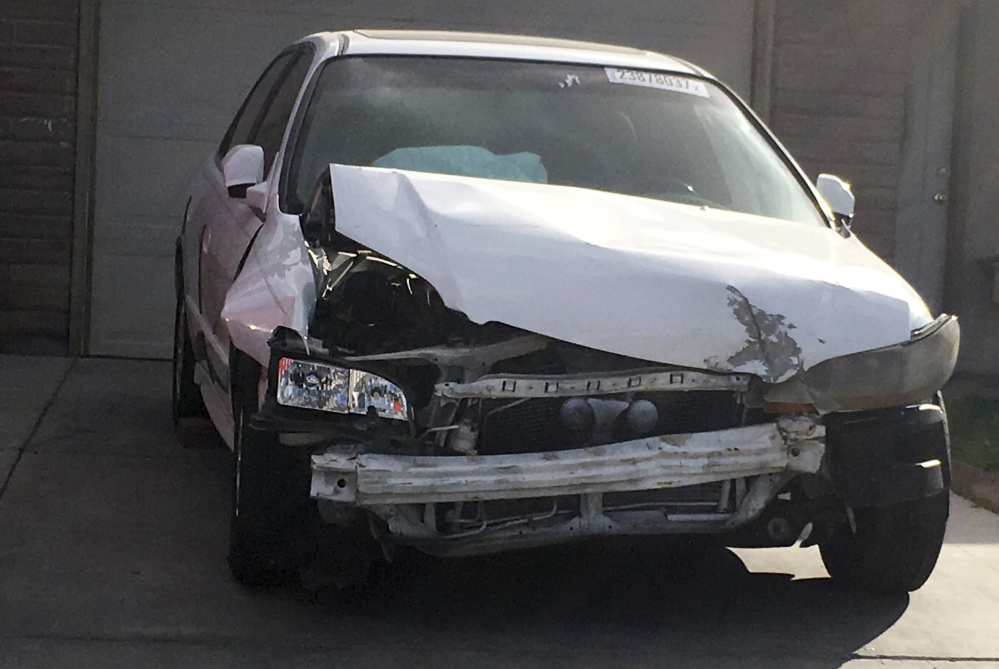 After this 2002 Honda Accord was involved in a crash that badly injured the driver, research showed that the Takata air bag inflator that exploded came from a 2001 Honda Accord.