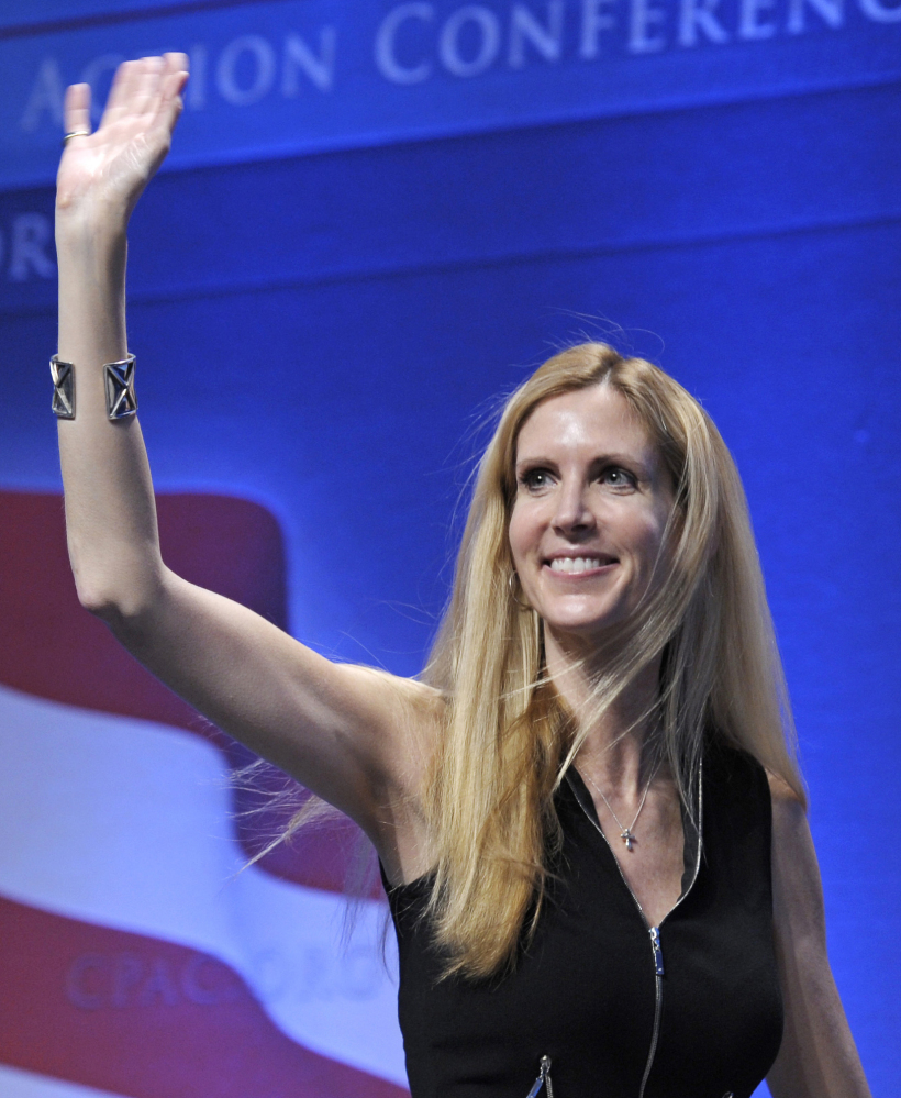 Ann Coulter says her speech has been