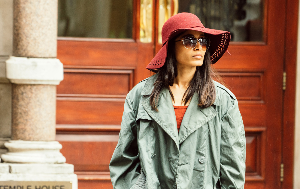 "Freida Pinto as Jas Mitra in the Showtime series, ""Guerrilla,"" which premieres on Sunday."