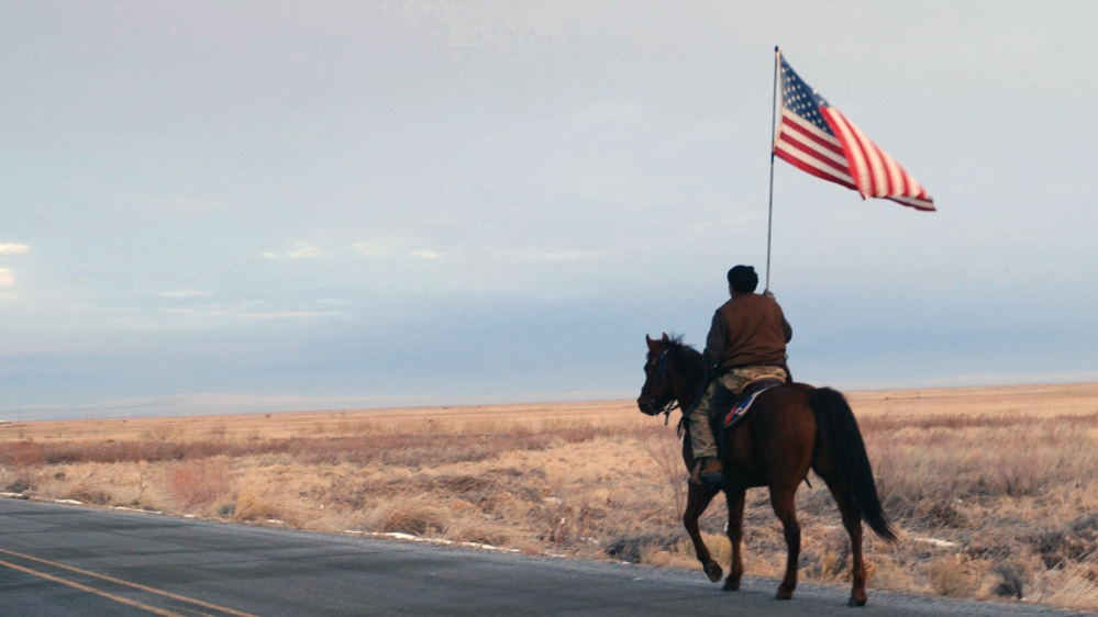 "A scene from ""No Man's Land,"" which tells the story of the Oregon protesters who occupied the Malheur National Wildlife Refuge last year."