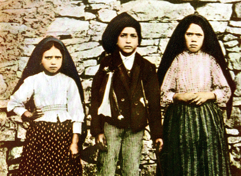 Three young shepherds, Jacinta Marto, left, Francisco Marto, center, and Lucia dos Santos said they saw the Virgin Mary in Fatima. Pope Francis last month signed off on the miracle needed to make Jacinta and Francisco Marto saints.