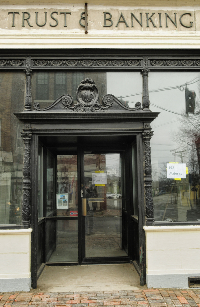 Stelser plans to preserve many of the historic details of the former Gardiner bank, and he hopes to include a take-out window where an ATM used to be.