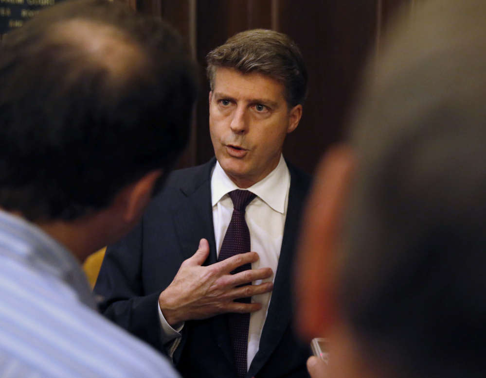 AP photo Hal Steinbrenner, owner of the New York Yankees, talks with reporters during the 2016 baseball owners meetings at the Drake Hotel in Chicago.