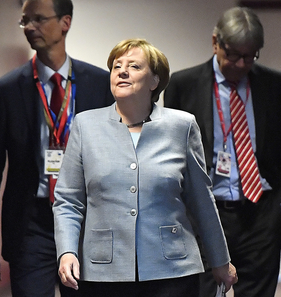 German Chancellor Angela Merkel and 26 other EU leaders will negotiate Britain's exit.