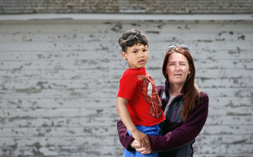 """Melodie Brennan and her son, Lavarice Elliott, were injured, and her husband was killed when a driver with four OUI convictions hit the bikes they were riding in Biddeford in 2013. """"I was so mad at the fact that (repeat offender David Labonte) was still driving,"""" she says."""