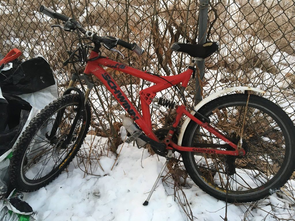 Police believe this bicycle and the jacket and hat below belonged to the victim.