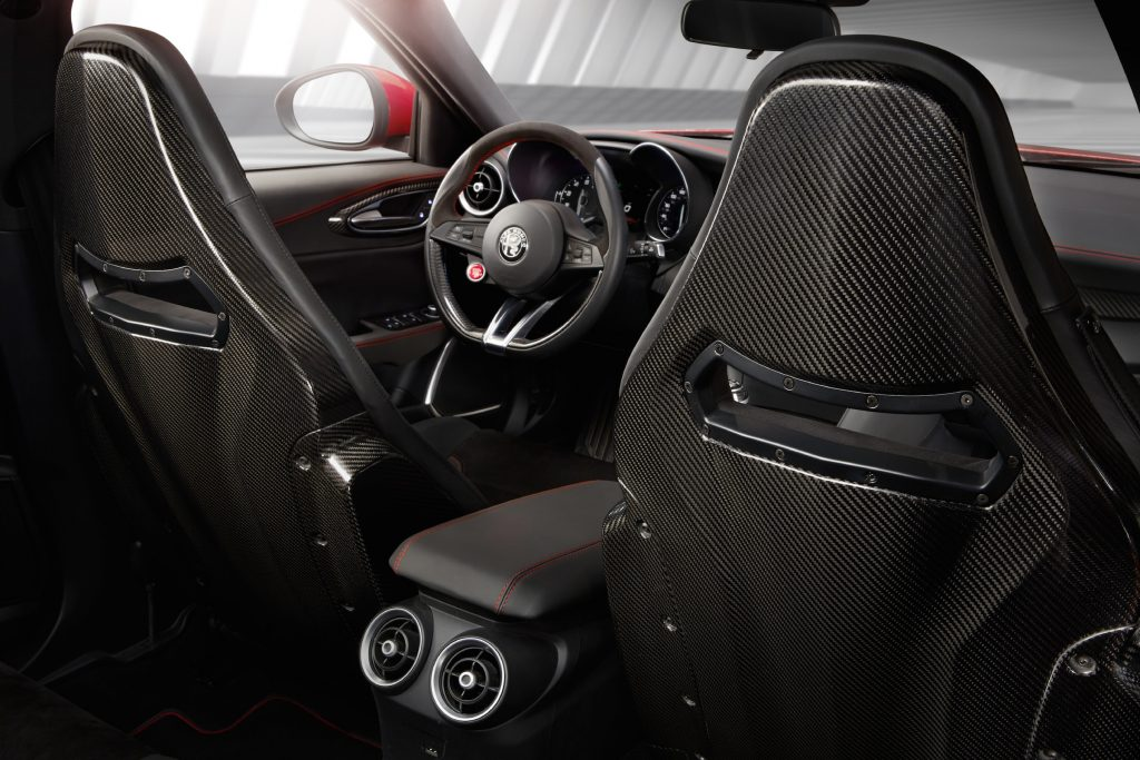 All Alfa Romeo Giulia come with an eight-speed automatic transmission, along with a full slate of safety gear.