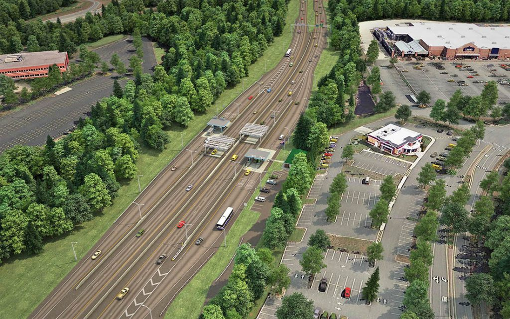 This digital rendering shows how Exit 44 will look when the three-year, phased project is  completed in the summer of 2019.