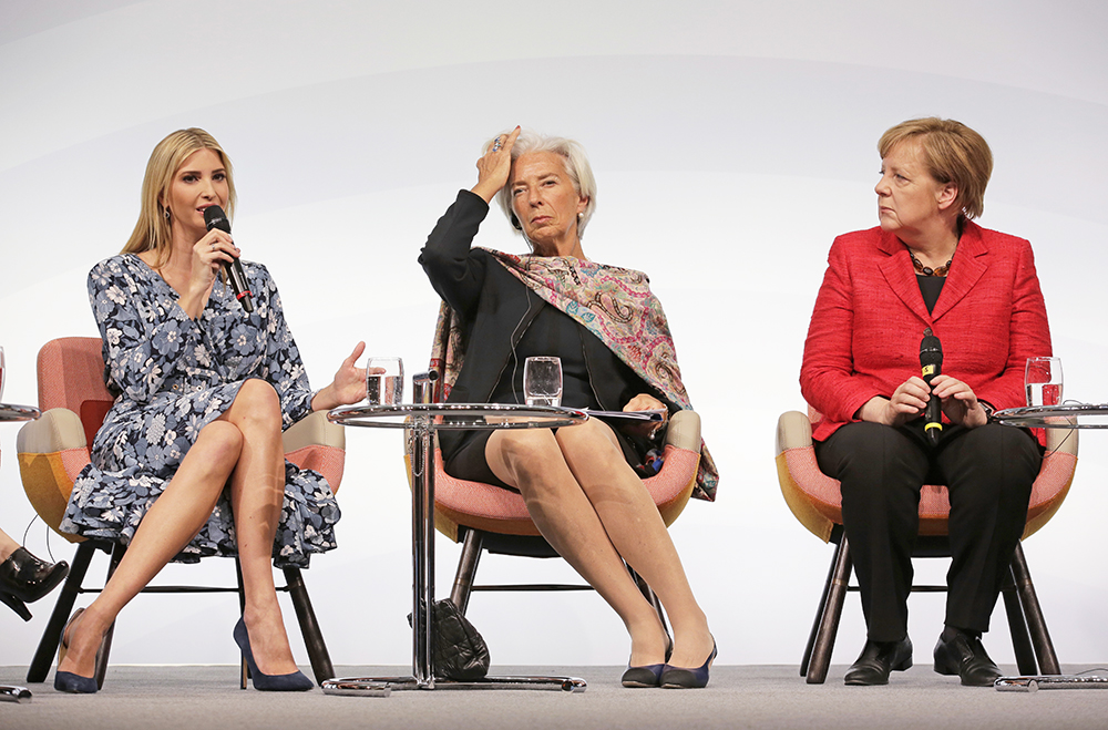 Ivanka Trump, International Monetary Fund Managing Director Christine Lagarde and German Chancellor Angela Merkel are panelists at the W20 Summit, a conference that aims to build support for investment in women's economic empowerment programs.