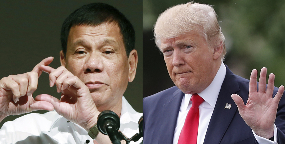 Human Rights Watch said Monday that President Trump should seek accountability for Philippine President Rodrigo Duterte, whom it accuses of being a mass murder 'mastermind' in his anti-drug crackdown.