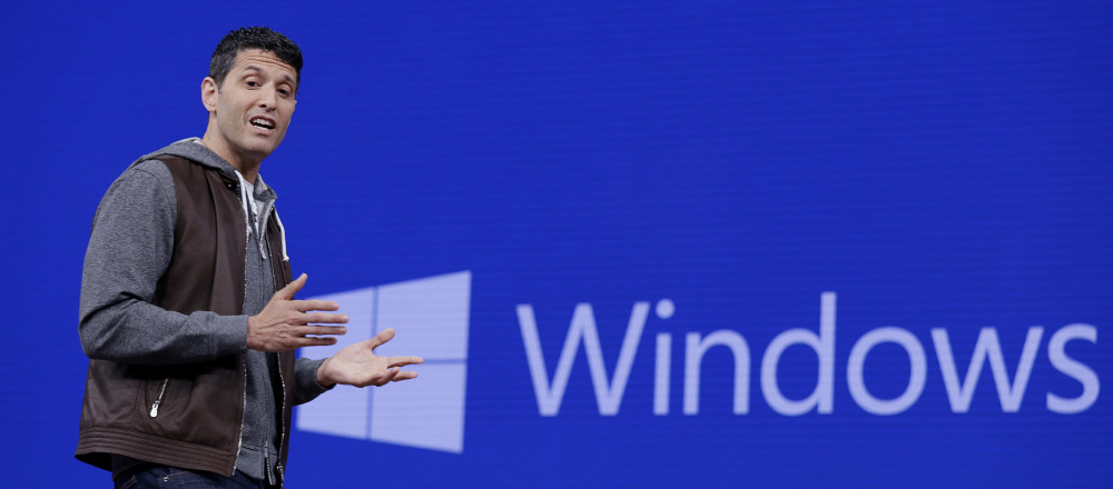 Terry Myerson, executive vice president of the Windows and Devices Group, speaks at the Microsoft Build 2017 developers conference Thursday in Seattle.