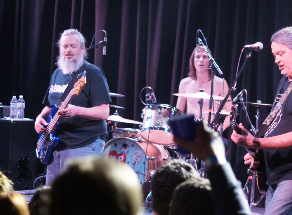 The Meat Puppets show great cheer throughout a gregarious set Thursday in Portland.