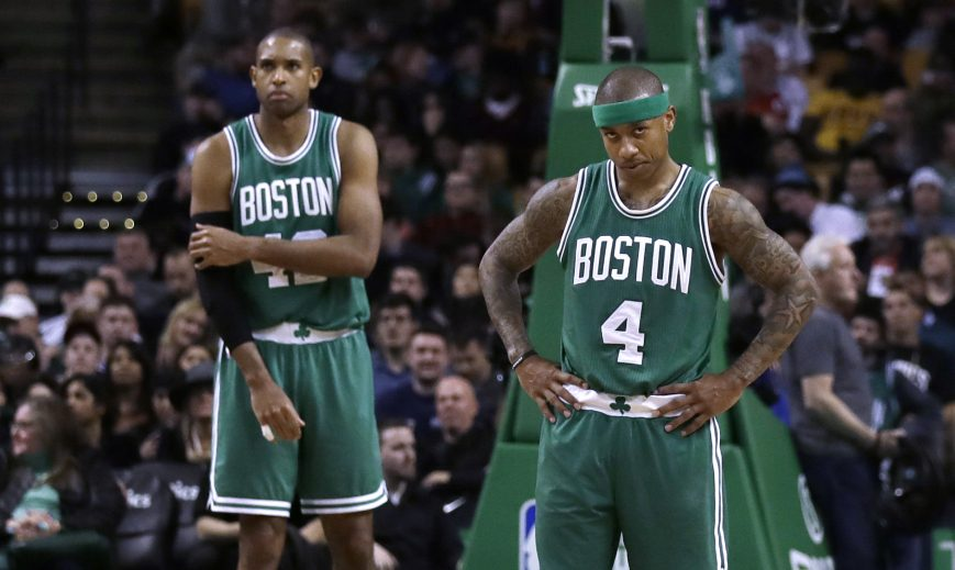 Isaiah Thomas, 4, and Al Horford have led the Boston Celtics into the Eastern Conference finals for the first time since 2012. Now the Cleveland Cavaliers stand in the way starting Wednesday night in Boston.