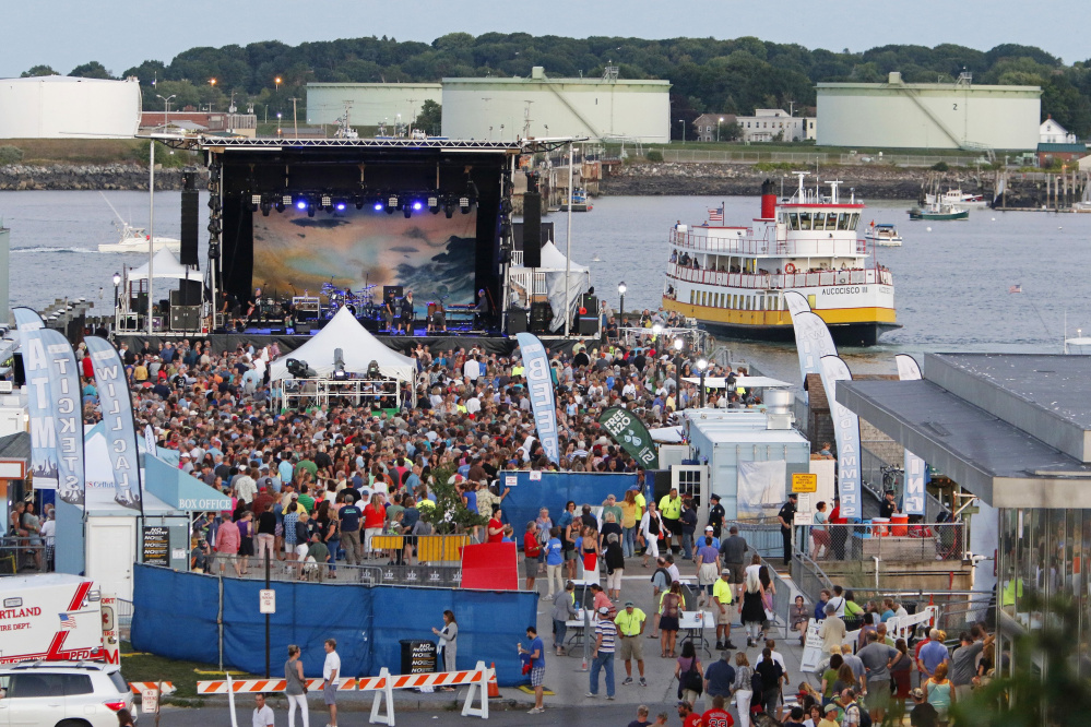 Waterfront Concerts, which stages shows on the Maine State Pier, adopted a clear-bag policy last year as a security measure. People were told they could bring in items only in clear plastic bags.