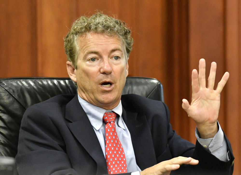 Senator Rand Paul, R-Ky., is sponsoring legislation to restrict Attorney General Jeff Sessions' order demanding more severe penalties for drug offenders.