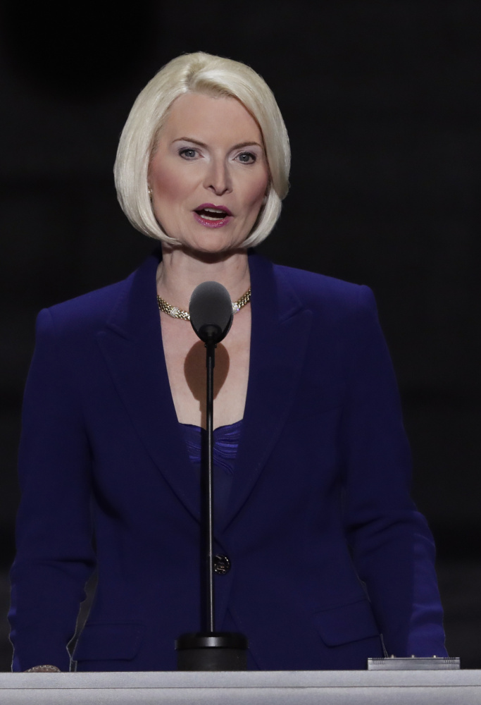 Callista Gingrich speaks during the third day of the Republican National Convention in 2016.