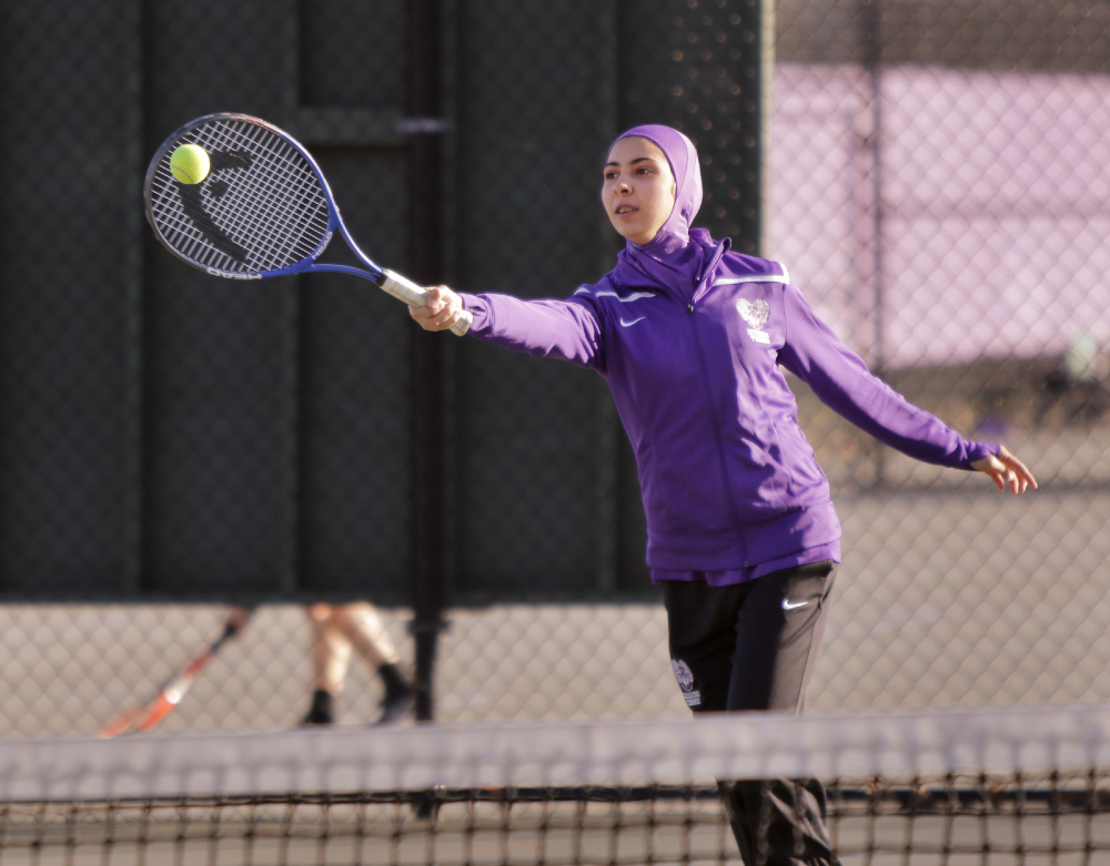 By outfitting Muslim athletes such as sophomore Tabarek Kadhim with hijabs designed for physical activity, Deering High School is showing that it values their participation and their feelings.