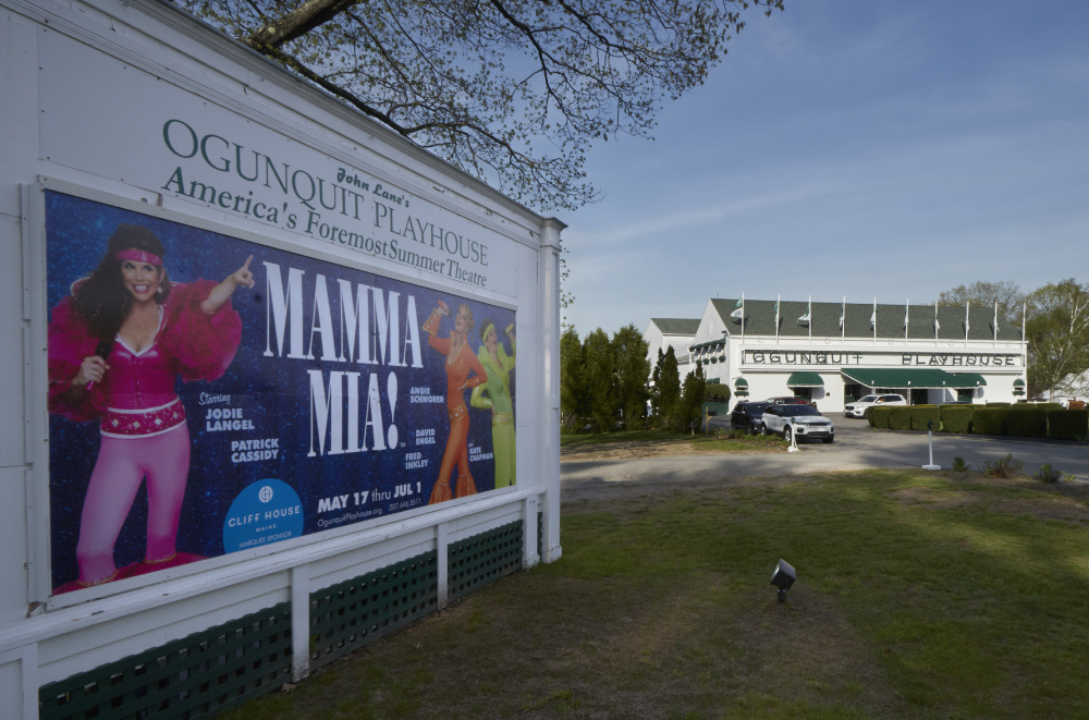 OGUNQUIT, ME - MAY 17: The first show of the 2017 season at the Ogunquit Playhouse is Mamma Mia! and it held a preview performance on Wednesday, May 17, 2017. (Staff Photo by Gregory Rec/Staff Photographer)