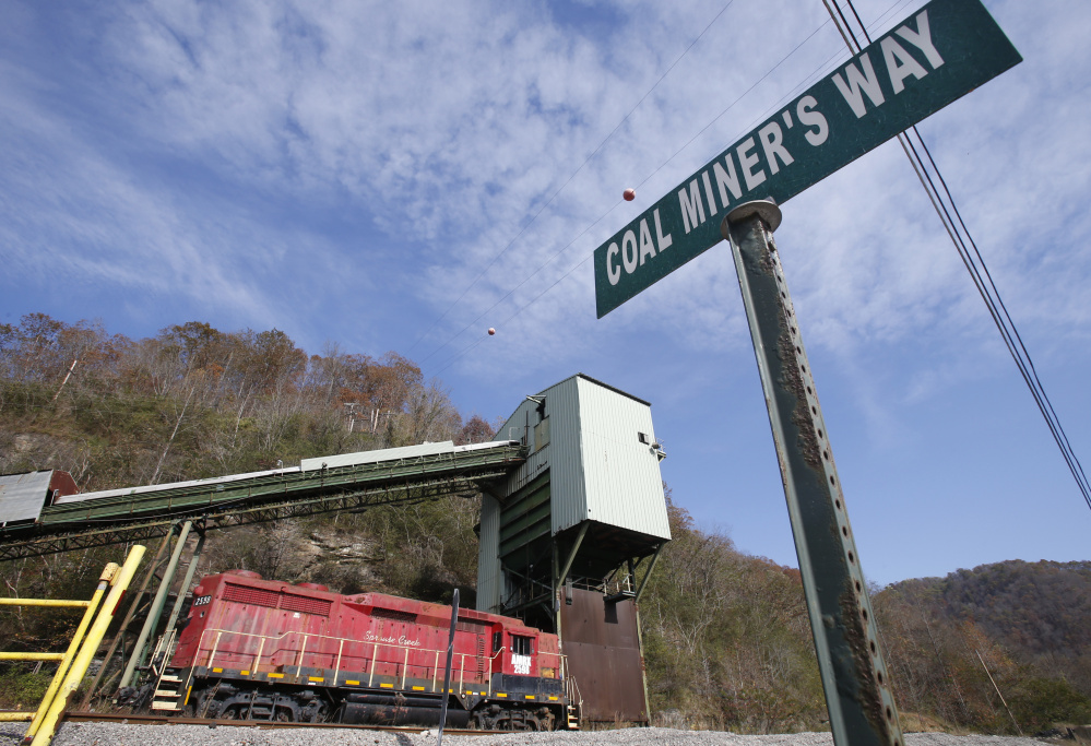 This photo from last fall shows the closed Spruce Creek coal mine in Matewan, W.Va.
