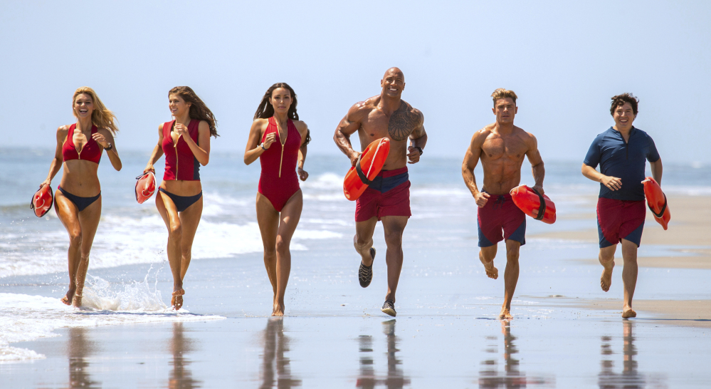 """""""Baywatch"""" hit troubled waters in its debut weekend. The critically derided remake of the 1990s TV show earned only $18.1 million but cost nearly $70 million to make."""