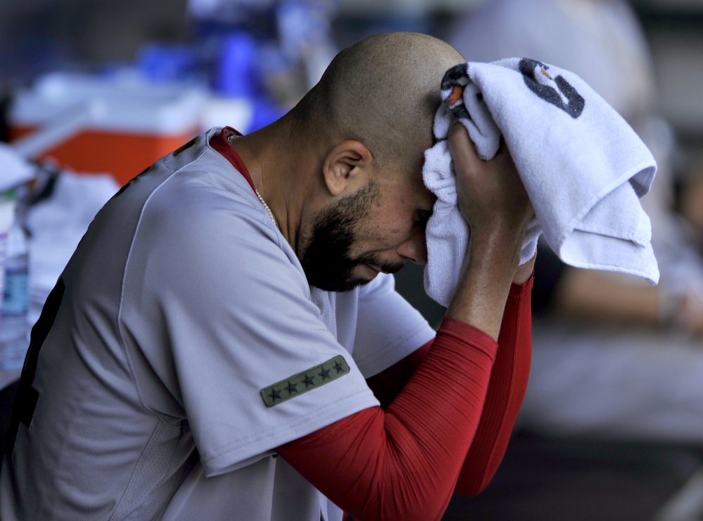 David Price allowed three runs on two hits in five innings in his first start of 2017, but the Boston Red Sox allowed two runs in the seventh inning and lost to the Chicago White Sox 5-4 on Monday in Chicago.