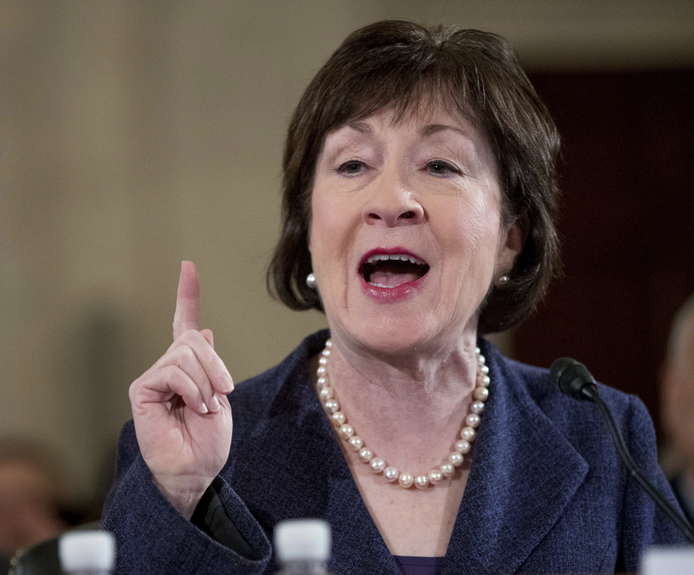 Maine Sen. Susan Collins said May 19 that her 13 Republican colleagues charged with drafting an ACA replacement plan are unlikely to succeed because it will be a partisan bill.