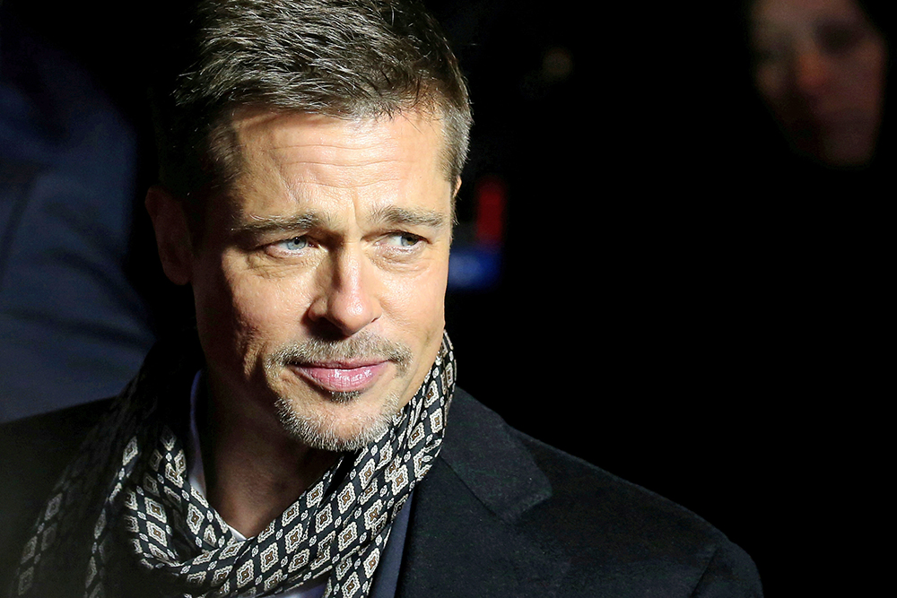 Brad Pitt arrives at the premiere of the film