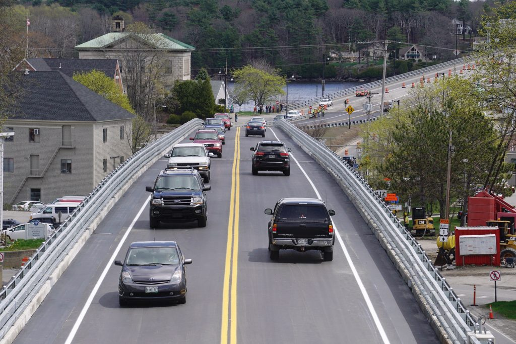 The Bath Viaduct reopened to traffic Wednesday, nearly a month ahead of schedule.