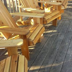THE MAINE ADIRONDACK CHAIR MATERIAL white cedar untreated (can be purchased oiled as well for more) PRICE $110. MADE WHERE? Vassalboro Maine & Whatu0027s the best Adirondack chair for your backyard lounging ...