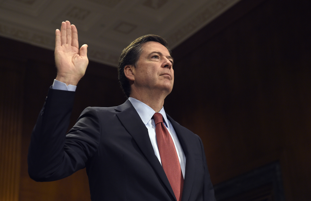 Former FBI director James Comey, shown in 2015, is expected to testify before the Senate Intelligence Committee on June 8 at 10 a.m.