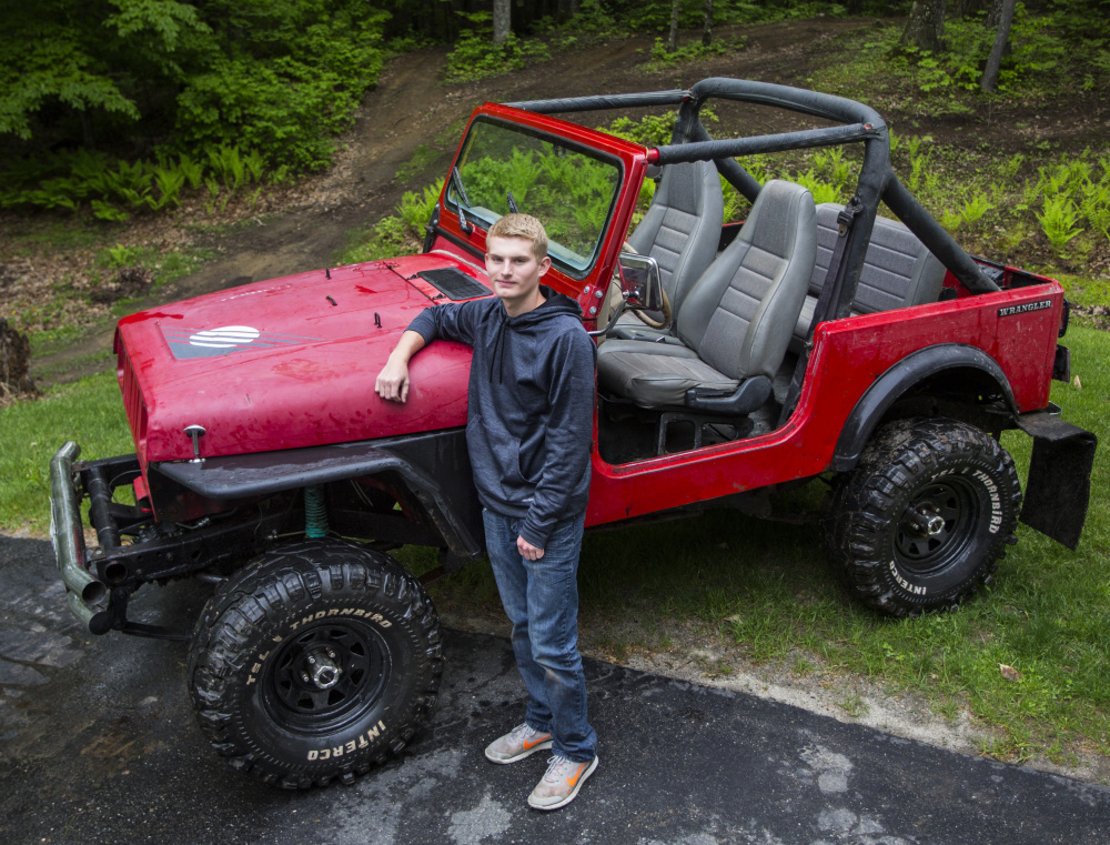 Home-schooled, Isaac Bennett, 17, enrolled and excelled in the automotive technology program at PATHS. With his uncle, he rebuilt this 1989 Jeep.