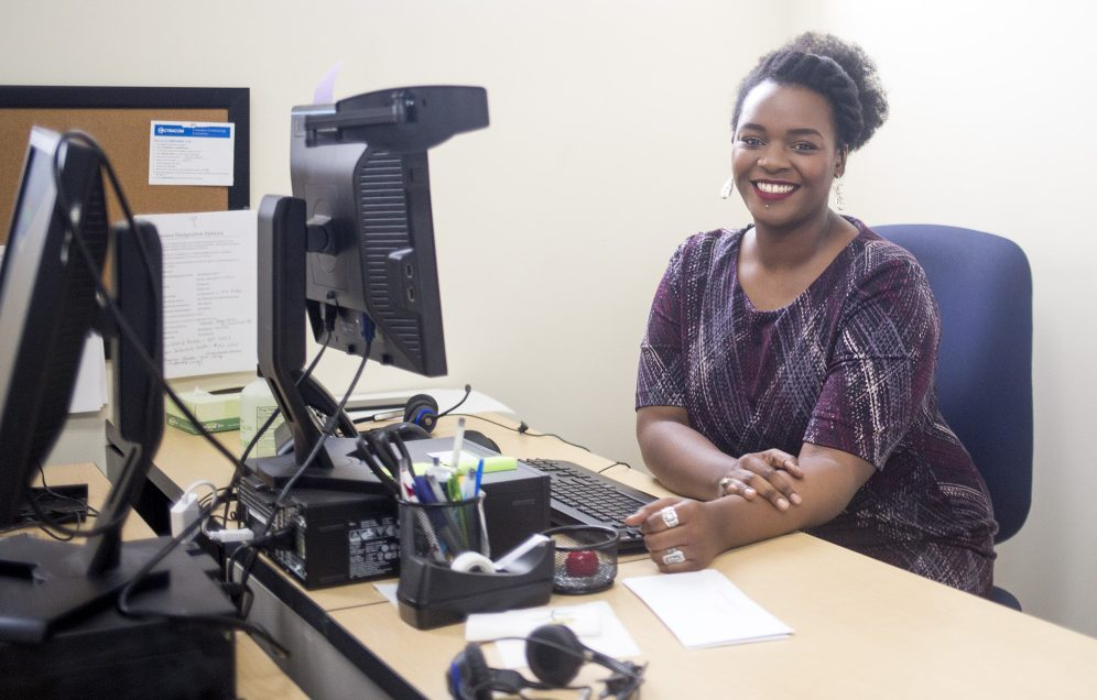 "Joanna Nganda participated in Portland's ""workfare"" program, then used that experience to get a job at Greater Portland Health, left. ""I don't think I would have been able to get this job without the workfare program,"" she said."