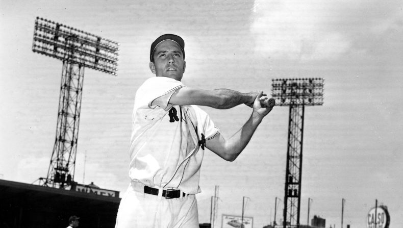 Outfielder Jimmy Piersall played seven of his 17 major league seasons with the Boston Red Sox.