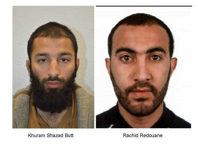 Khuram Shazad Butt and Rachid Redouane have been identifed as two of the London Bridge attack suspects.
