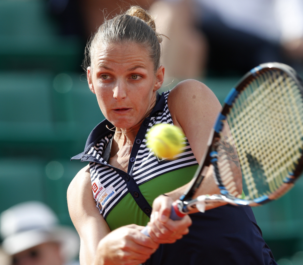 Karolina Pliskova, the No. 2 women's seed, rallied from a set down to beat Veronica Cepede Royg and reach the French Open quarterfinals for the first time.