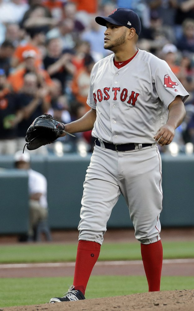 Red Sox pitcher Eduardo Rodriguez has been advised to rest his injured knee.