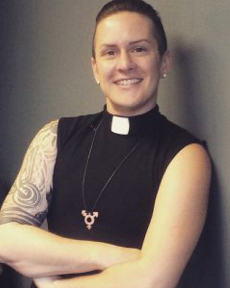 The Rev. M Barclay was commissioned on Sunday as the first non-binary member of the clergy in the United Methodist Church. MUST CREDIT: Reconciling Ministries Network.