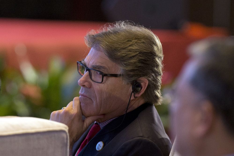 U.S. Energy Secretary Rick Perry delivered a starkly different message from other world energy leaders in Beijing this week when he spoke of deep cuts to climate change research in President Trump's proposed budget.