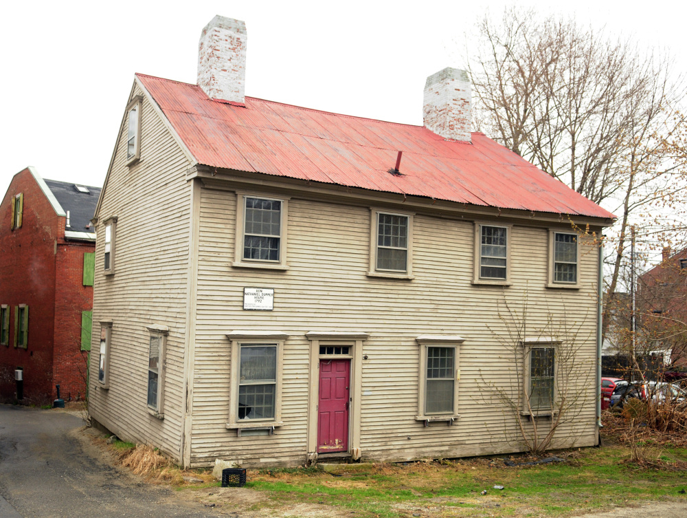 The Dummer House in Hallowell is expected to be moved and preserved to make way for more downtown parking.
