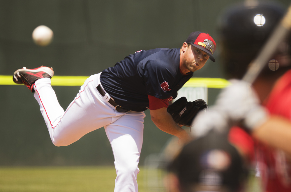 Taylor Grover, usually a reliever, got the start on the mound Sunday and struck out five in three innings while allowing two runs as the Sea Dogs used four pitchers in a 10-7 win over the Erie SeaWolves.