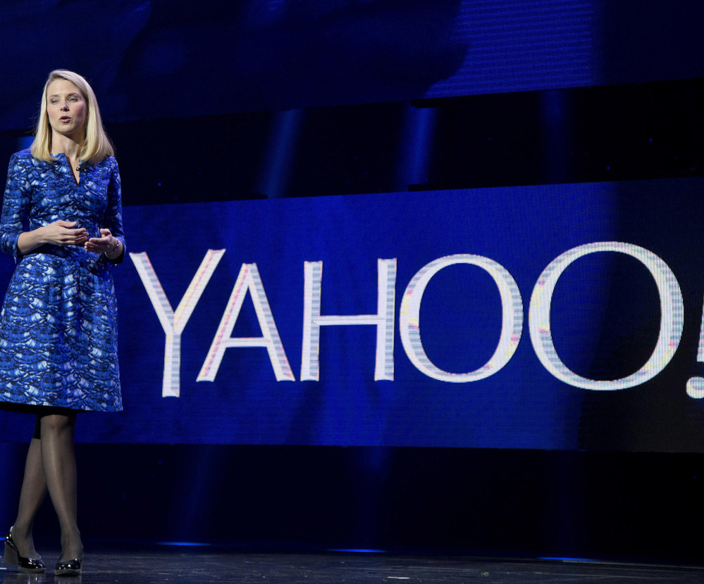 Yahoo president and CEO Marissa Mayer speaks during the International Consumer Electronics Show in Las Vegas in 2014. On Tuesday, June 13, 2017, Verizon took over Yahoo, completing a $4.5 billion deal that will usher in a new management team to attempt to wring more advertising revenue from one of the internet's best-known brands. Tuesday's closure of the sale ends Yahoo's 21-year history as a publicly traded company. It also ends the nearly five-year reign of Yahoo CEO Marissa Mayer, who isn't joining Verizon. (Associated Press/Julie Jacobson, File)