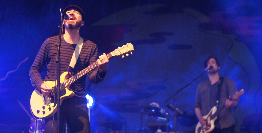 The Shins play Friday to a rain-soaked crowd in Portland.