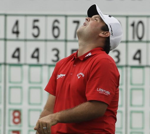 Patrick Reed reacts after missing a birdie putt on the 18th hole during the third round of the U.S. Open Saturday in Erin, Wisconsin.