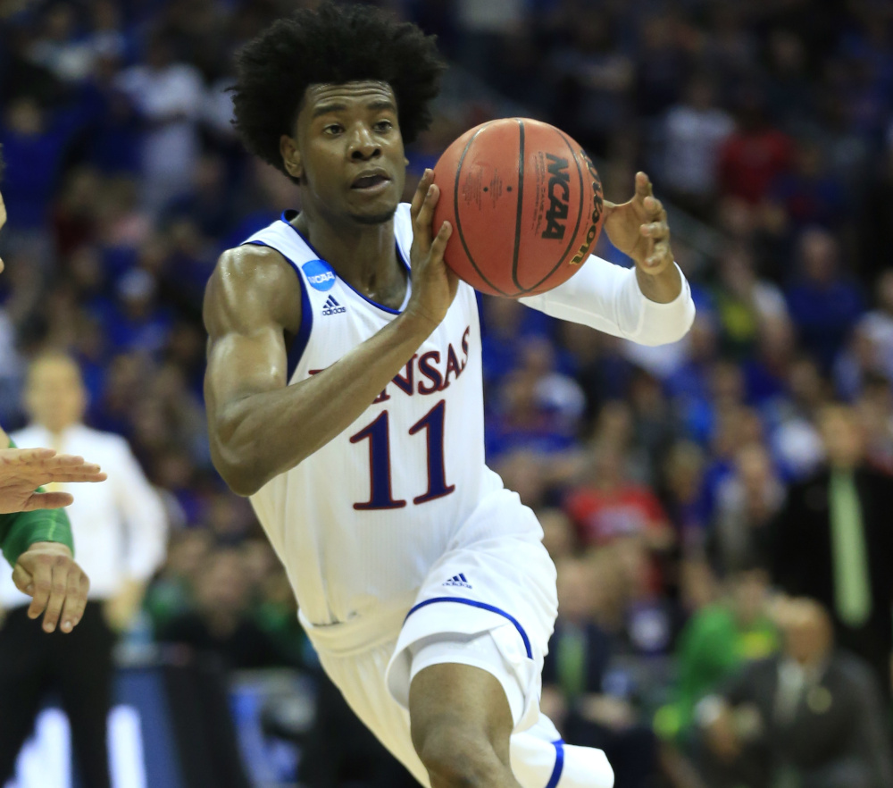 Josh Jackson, a 6-foot-8 forward from Kansas, has been projected by many experts as the third-best prospect in the NBA draft.