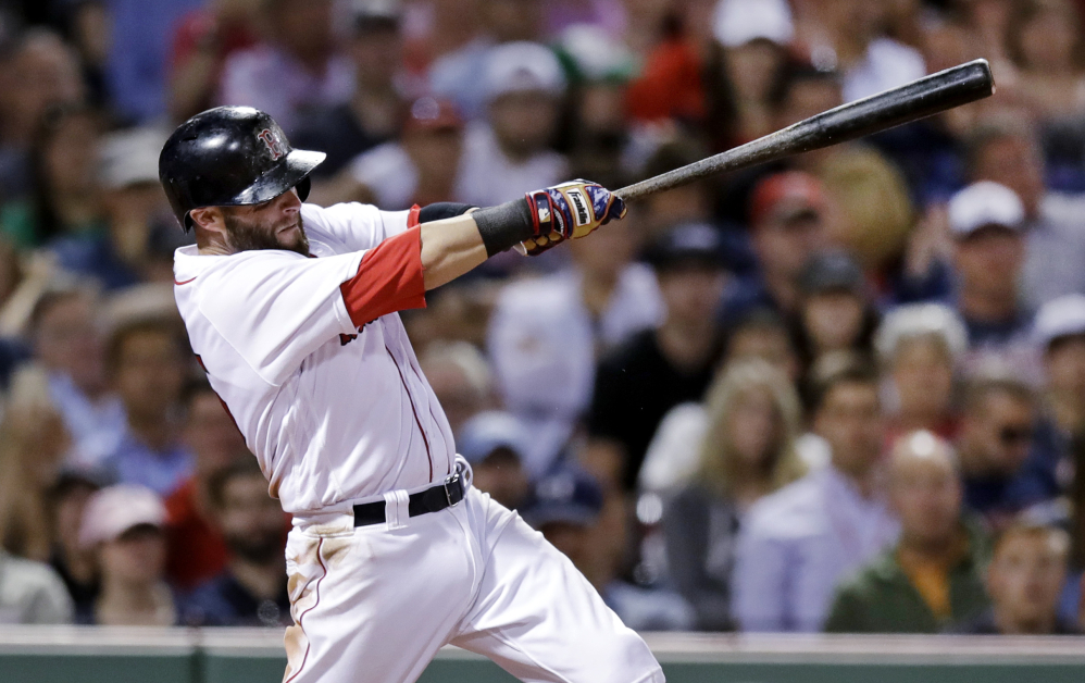 Dustin Pedroia hits an RBI single in the seventh inning to give the Red Sox an insurance run in what turned out to be a 4-1 win.