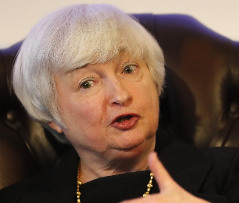 Fed Chairman Janet Yellen told a group in London that