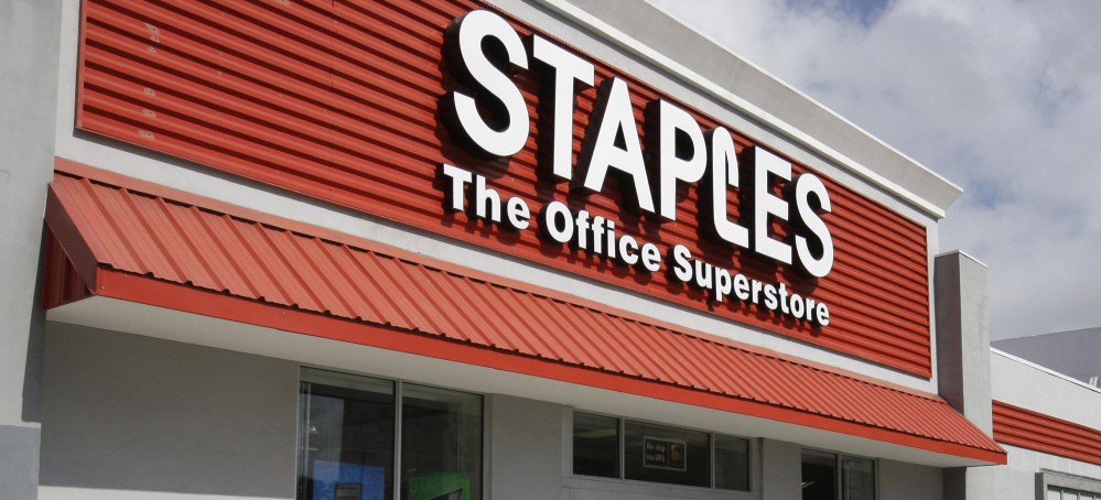 "The digital revolution took a toll on Staples, now based in Framingham, Mass., which had grown quickly and used a tagline ""That was easy."""