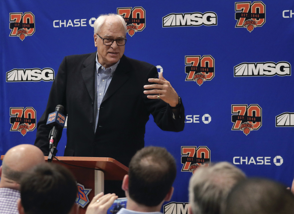 Phil Jackson and the New York Knicks parted ways Wednesday after the coaching great's abysmal tenure as team president. General Manager Steve Mills will run the team's day-to-day business in the short term.