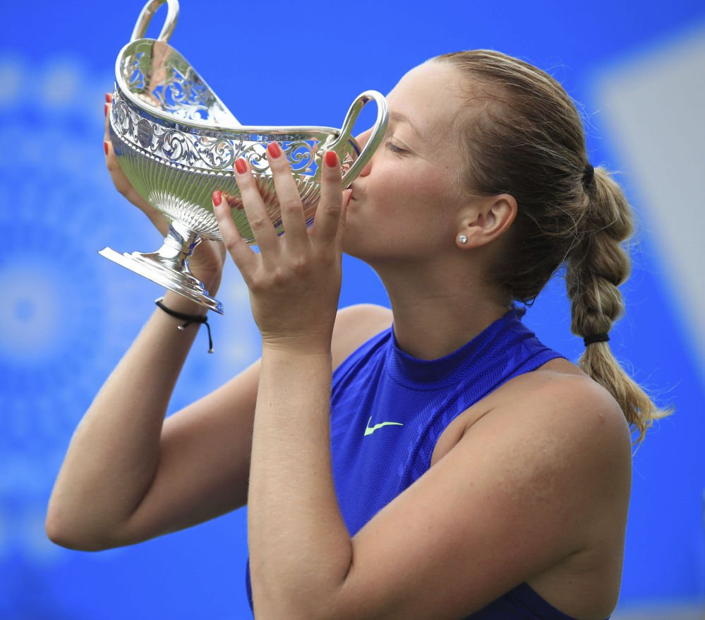 Petra Kvitova entered the French Open at the last minute, then lost in the second round.But she's much more prepared for Wimbledon after winning a grass-court tournament last week in Birmingham, England.