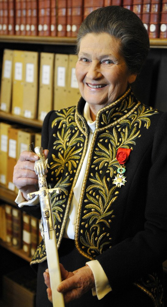 A funeral ceremony will be held Wednesday at Les Invalides, site of Napoleon's tomb, for Simone Veil, pictured above in 2010.
